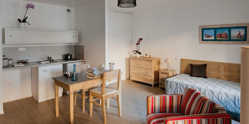 Les Jardins d'Arcadie Perros-Guirec chambre cuisine