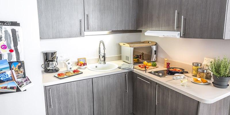 résidence senior bourg en neuf cuisine