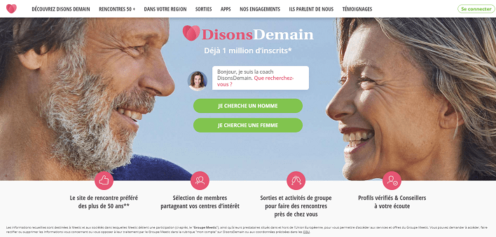 Disons Demain homepage