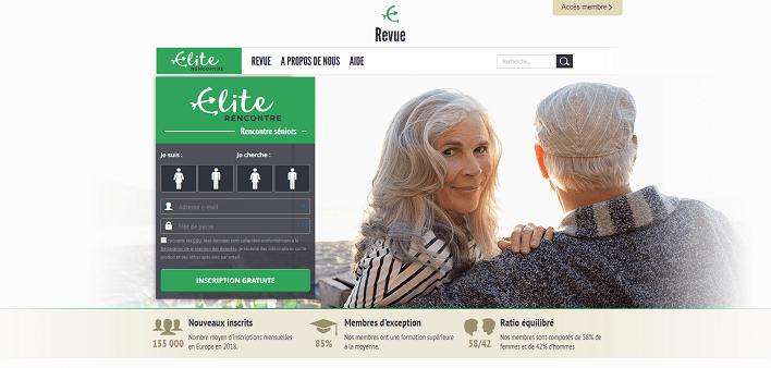 Elite Rencontre Senior homepage